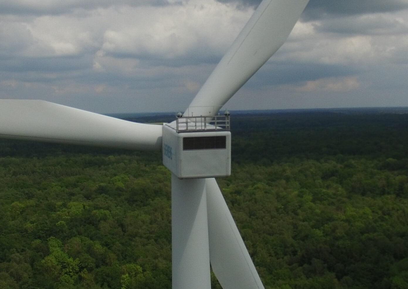 Windkraftanlage Siemens Luftbildperspektive