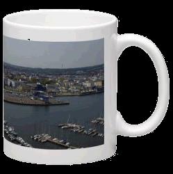Tassen mit Luftaufnahmen