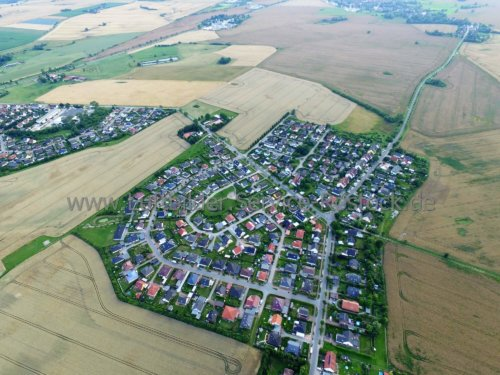 Luftbildaufnahme von Neu Broderstorf bei Rostock Sommer 2016