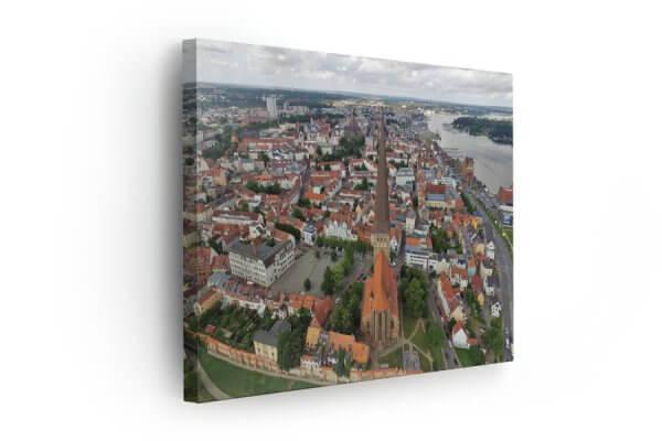Rostock Luftaufnahme auf Leinwand kaufen